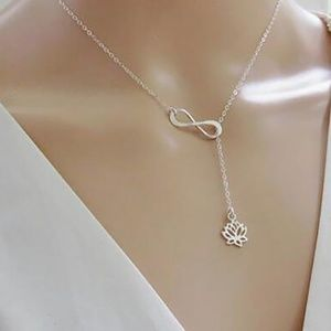 5 for $25 Infinity Lotus Necklace